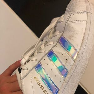 Adidas superstar metallic iridescent color